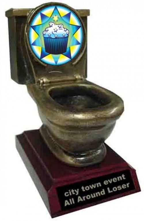 Cupcake Toilet Trophy