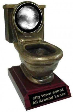 Disco Ball Toilet Trophy