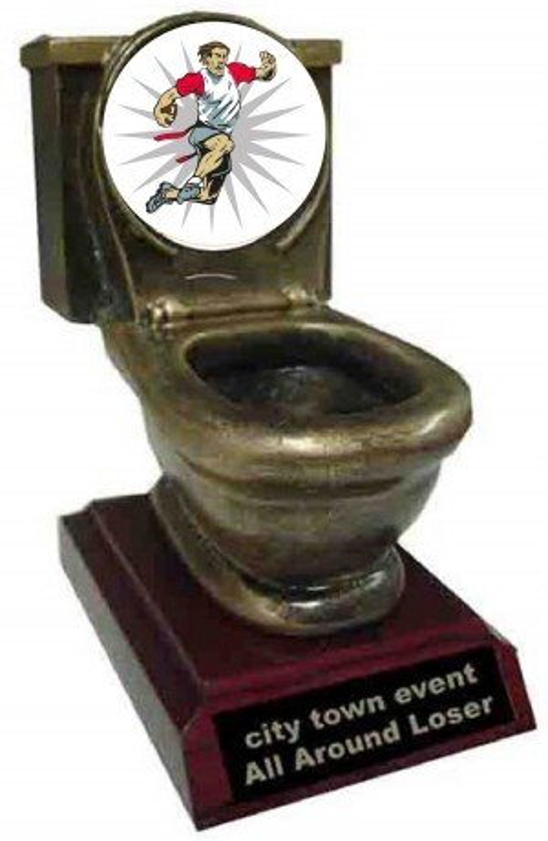 Flag Football Toilet Trophy