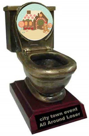 GingerBread House Toilet Trophy