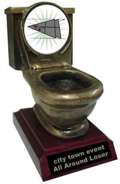Shuffleboard Toilet Trophy