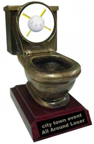 Wiffle Ball Toilet Trophy