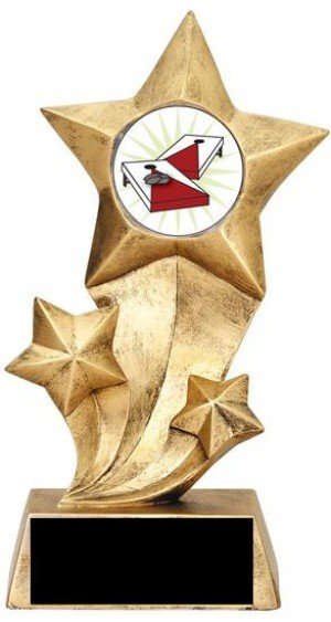 Resin Stars Cornhole Trophy