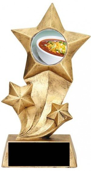 Chili Bowl Cook Off Resin Stars Trophy