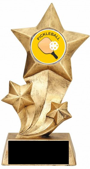 Resin Stars Pickleball Trophy
