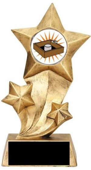 Resin Stars Washer Toss Trophy