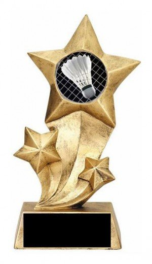 Resin Stars Badminton Trophy