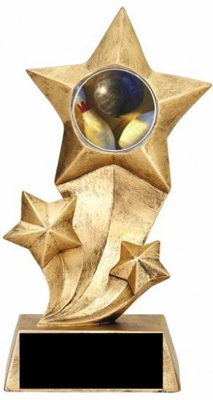 Bowling Resin Star Trophy