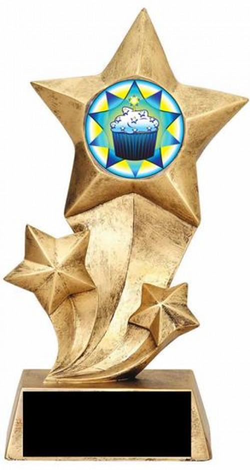 Cupcake Resin Stars Trophy
