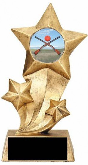 Sporting Clays Resin Stars Trophy