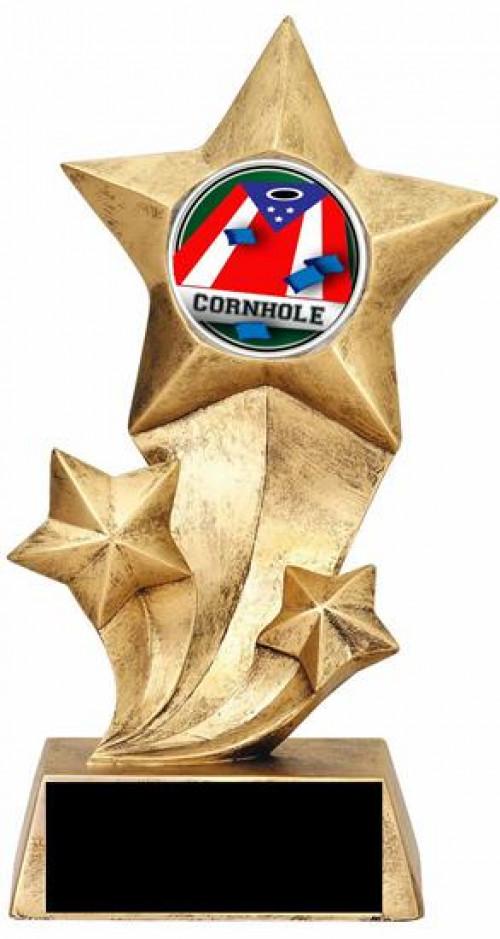 Cornhole Resin Stars Trophy