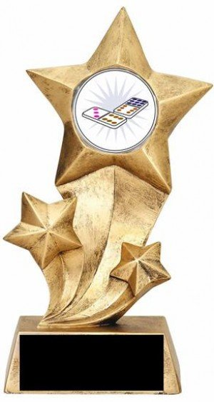 Resin Stars Dominoes Trophy