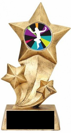 Just Dance Wii Resin Stars Trophy