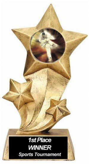 Karate Resin Stars Trophy