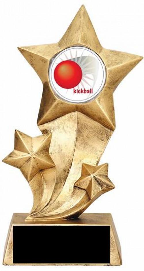 Resin Stars Kickball Trophy