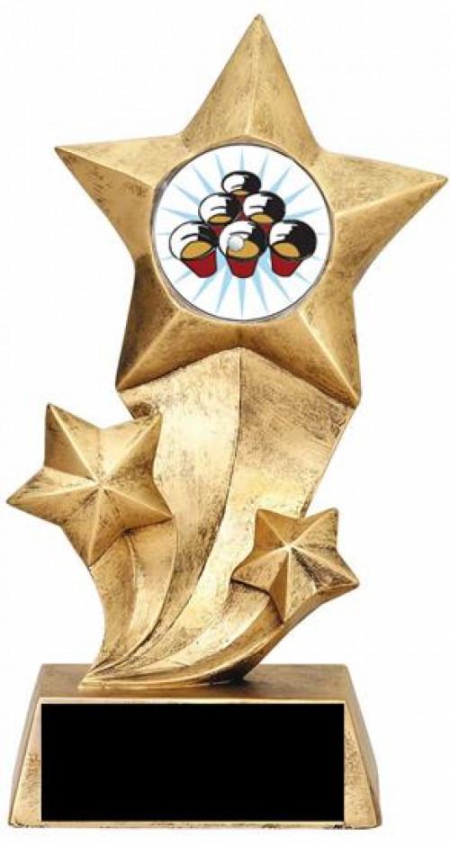 Resin Stars Beer Pong Trophy