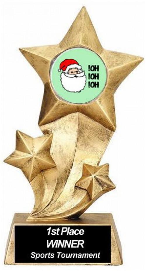 Resin Stars Santa Trophy