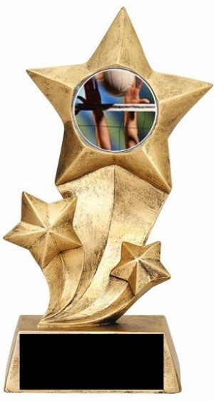 Volleyball Resin Stars Trophy