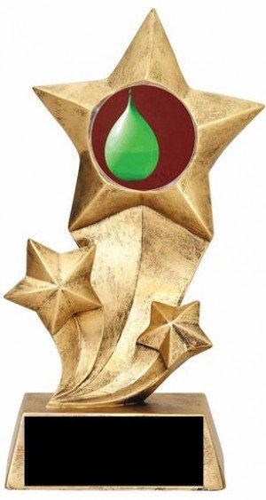 Resin Stars Water Balloon Toss Trophy