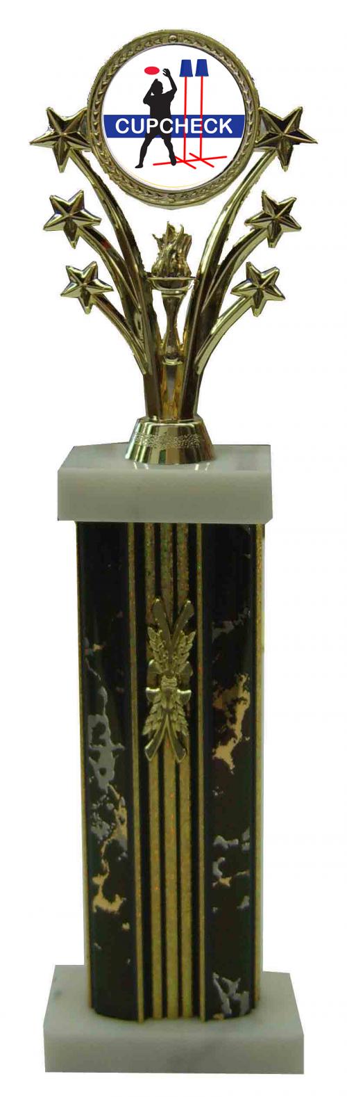 Cupcheck Column Trophy
