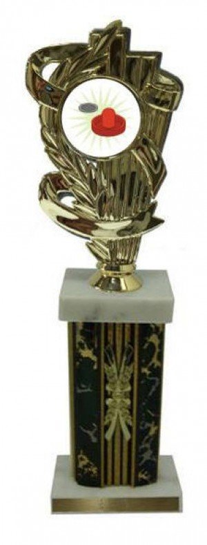 Air Hockey Large Column Trophies