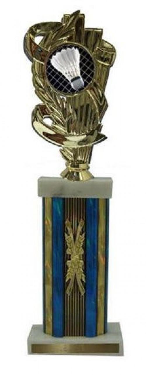 Badminton Large Column Trophies