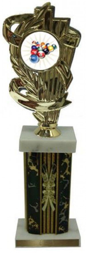 Billiard 2 Large Column Trophies