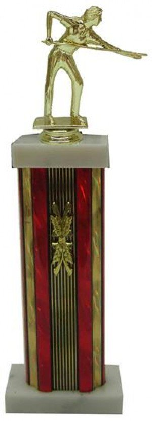 Female Billiards Column Trophy