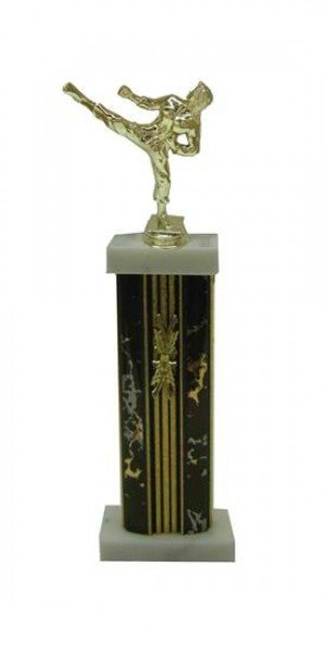 Female Karate Column Trophy