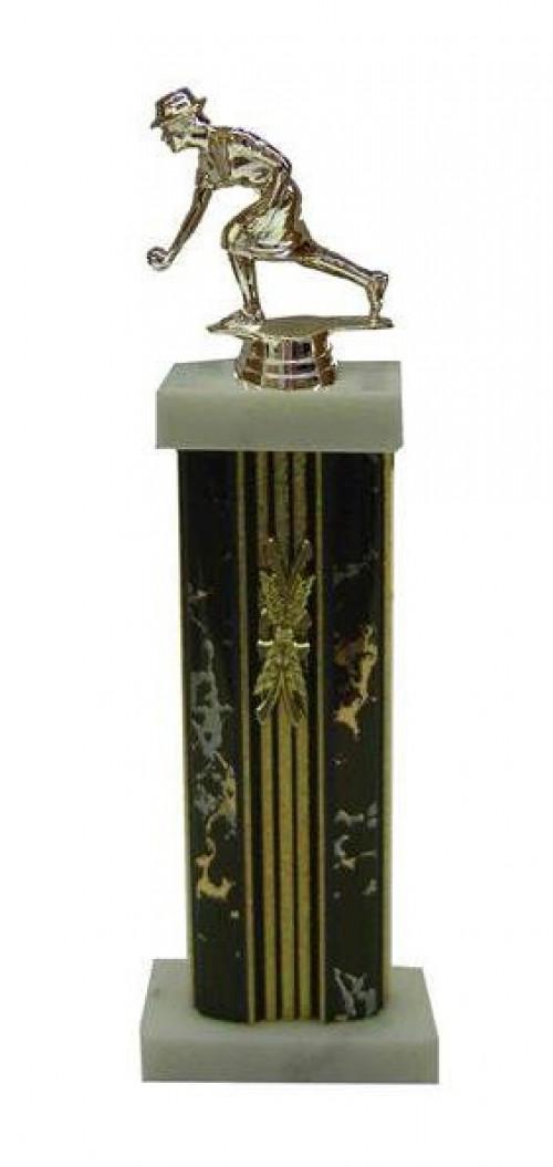 Ring A Pin Female Figure Column Trophy