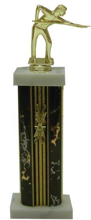 Billiards Column Trophy