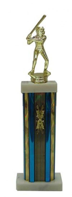 Female Softball Column Trophy