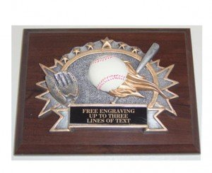 Baseball Resin Plaque