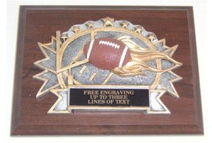 Football Resin Plaque