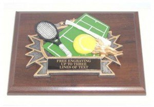 Tennis Resin Plaque