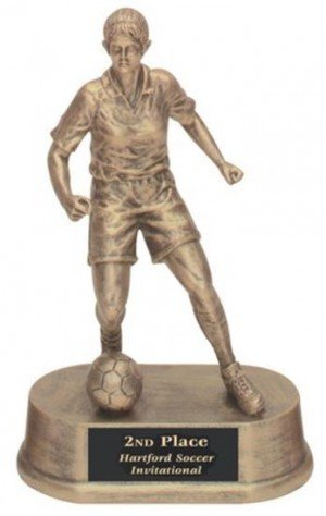 Female Soccer Trophy Resin