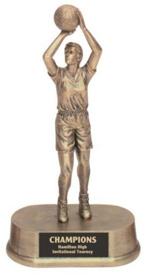 Female Basketball Resin Trophy
