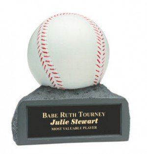 Baseball 4 Inch Resin Trophy