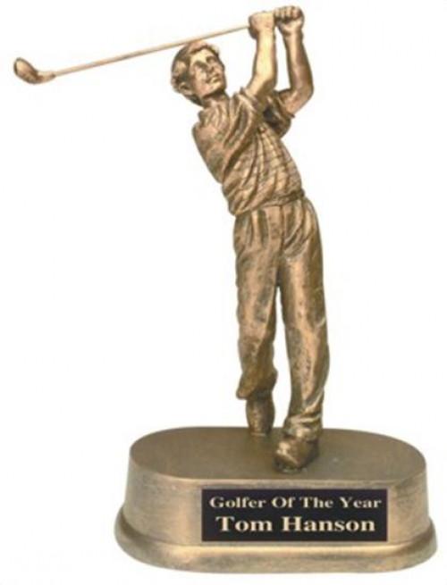 Male Golf Resin Trophy