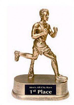 Male Track Resin Trophy