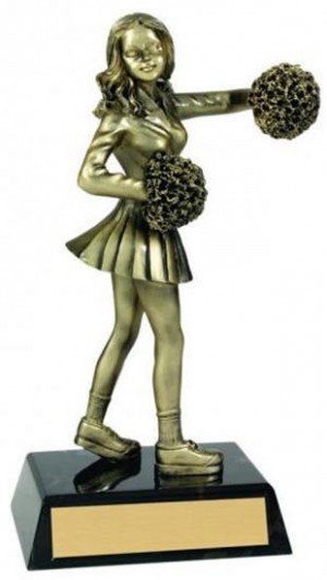 Cheerleader Metallic Trophy