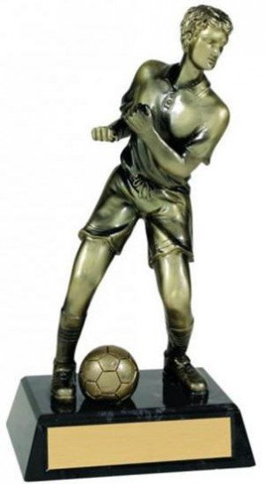 Male Soccer Metallic Trophy