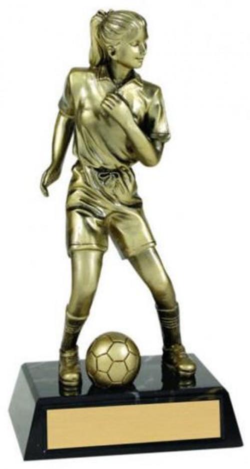 Female Soccer Metallic Trophy