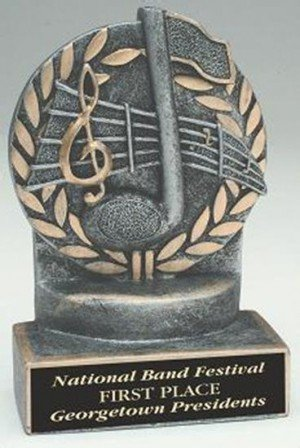 Music 4 1/4 Inch Resin Trophy