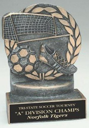 Soccer 4 1/4 Inch Resin Trophy