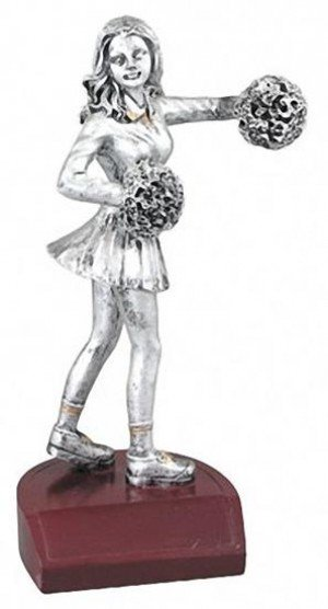 Cheerleading Silver Resin Trophy