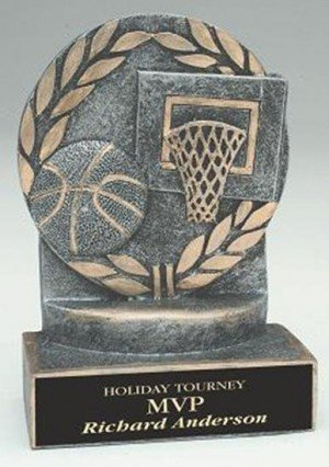 Basketball 4 1/4 Inch Resin Trophy