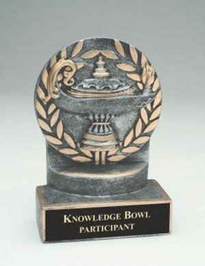 Lamp of Knowledge 4 1/4 Inch Trophy