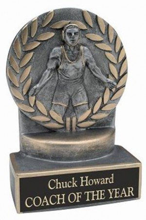 Wrestling 4 1/4 Inch Resin Trophy
