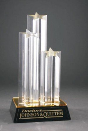 Acrylic Triple Star Award